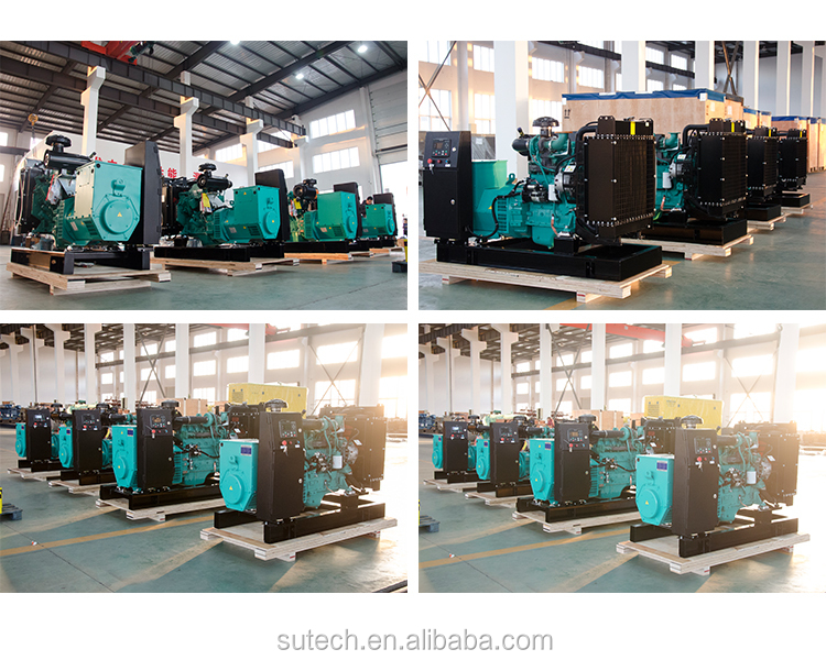 AC three phase output silent diesel generator 35kva with Cummins engine 4BT3.9-G2