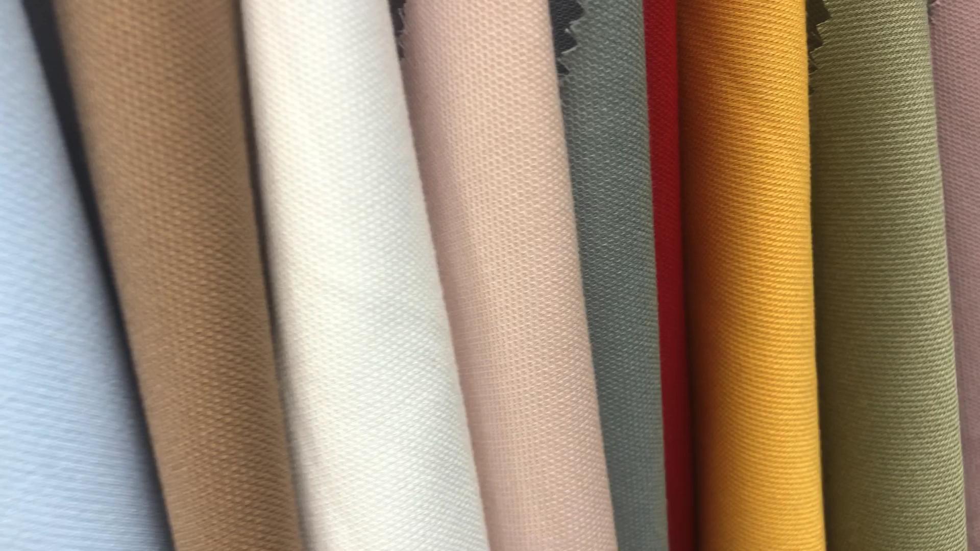 น้ำหนักเบาผ้าใบสไตล์ยืดเรยอนโพลีเอสเตอร์Spandexผ้าจากประเทศจีน