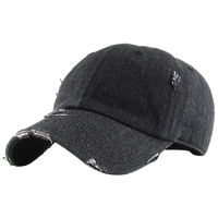 Classic Polo Style Hole Baseball Cap All Cotton Made Adjustable Fits Men Women Low Profile Black Hat Unconstructed Dad