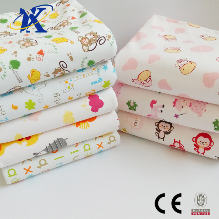 Custom printed PUL fabric baby diaper raw material fabric cloth diapers low MOQ custom print
