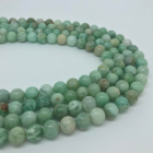 Stone Wholesale Natural Stone Round Green Quartz Bracelet Necklace Stone Bead Gem Jewelry Making DIY