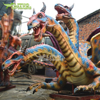 New Life Size Three Head Dragon Animatronic