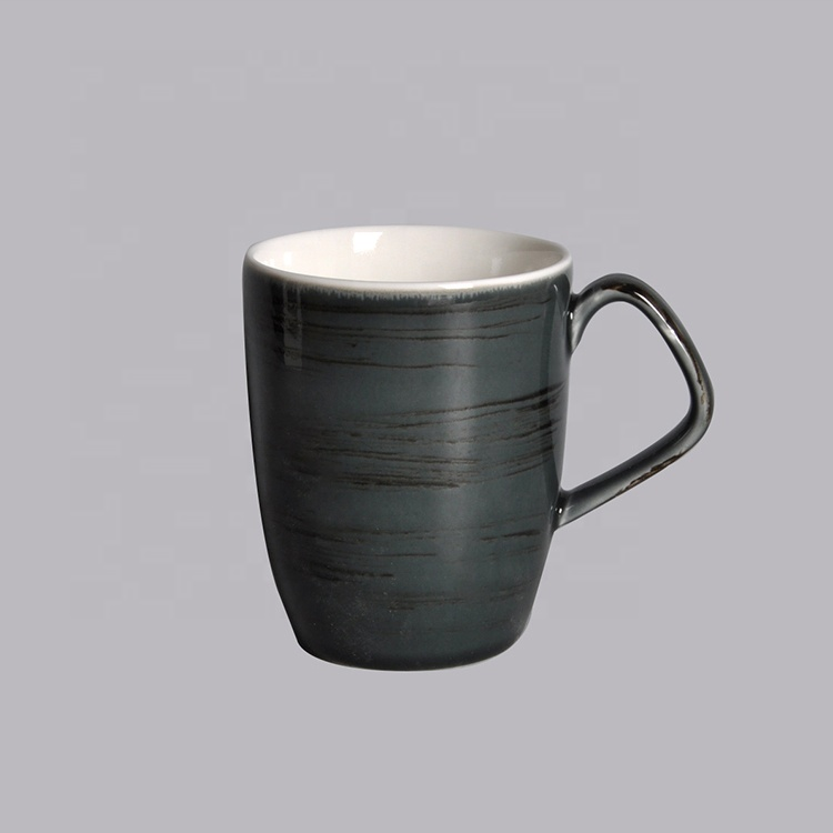 ceramic mug porcelain black