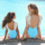Mom Baby Swimwear One Piece Swimsuit Bodysuit Parent-child Beach Wear Wing Angel Monokini Backless Bathing Suit Female