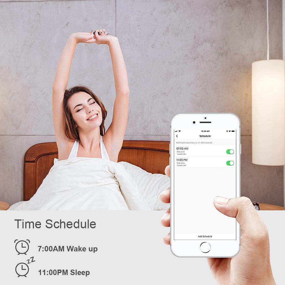 Alexa Google Telefono di Casa Lampadina di Controllo Della Macchina Fotografica Luce Del Libro Tutto in Una Luce di Via Solare Timer Wifi