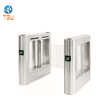 Double Swing door closers Entrance turnstile แก้วและ TCP/IP