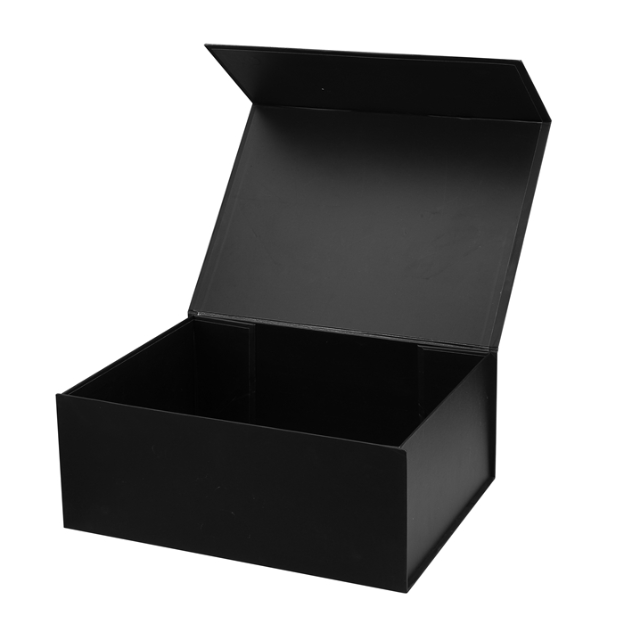 customized flat folding megnetic closure leather belt packaging matt black small luxury foldable gift box