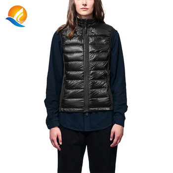 shiny top quality ultra light down womens puff bubble vest black outdoors sleeveless ladies waistcoat