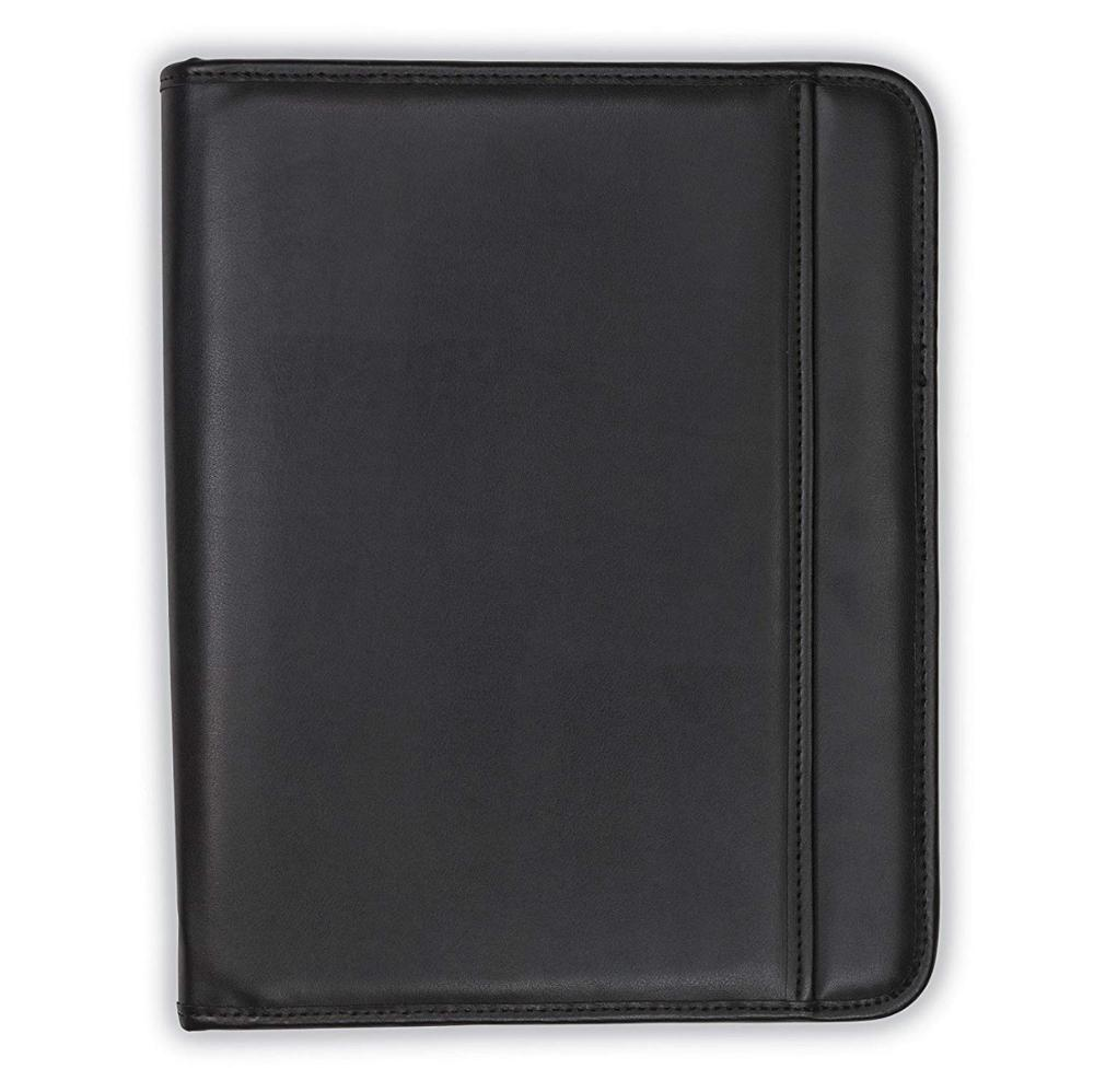 filing product business A4 PU leather Zipper portfolio bag For Executive meeting file