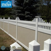 High Quality Top Picket Semi-privacy PVC Fence