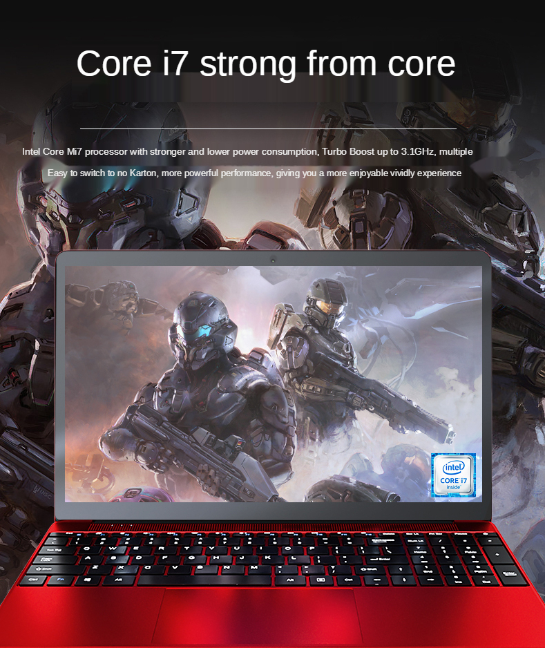 Best Price New Ultra Thin Intel i7 15.6 Inch Gaming laptops Win10 Mini PC Notebook 8GB 256GB OEM  Laptop Computer