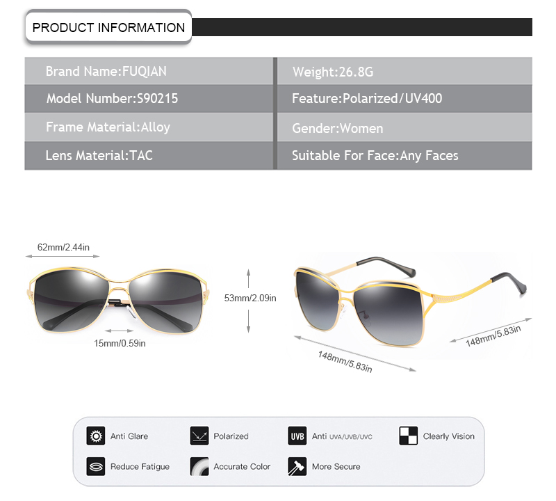 Fuqian what does polarized lenses mean Supply for lady-9