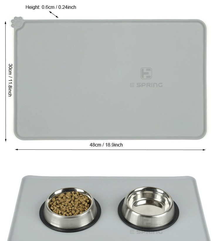 Factory Directly Provide Silicone Pet Mat For Food Pet Dog Feeding Mat