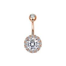 1 шт циркониевое сексуальное длинное кольцо для живота милое сердце для пупка для пирсинга, из хирургической стали серебряное розовое золот...(Китай)