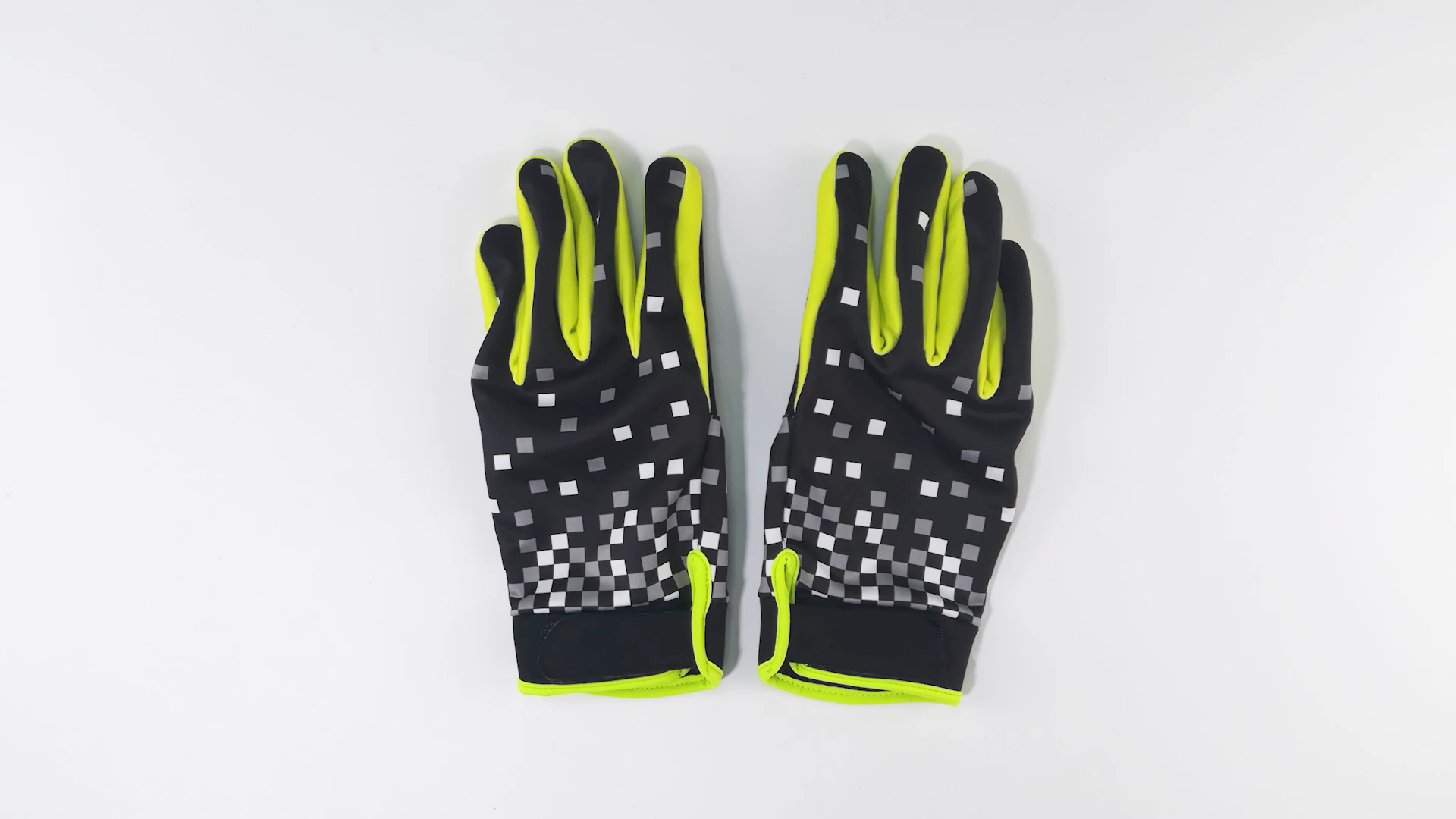 2020 Universal Stretchable Unisex Fluorescent Green Bike Running Bicycle Cycle Cycling Gloves with Gel Padded
