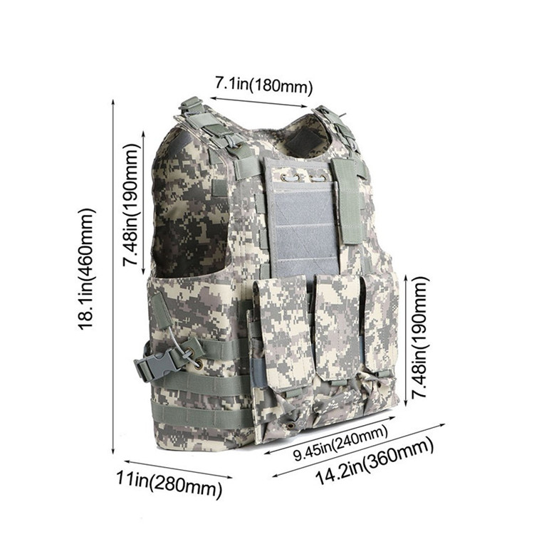 Caccia Militare Airsoft MOLLE Nylon Combattimento Paintball Vest Tactical