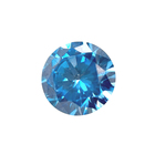 Auto Machine Cut Round Brilliant Cut Small Sizes Aquamarine Synthetic Stones loose cubic zirconia gemstones