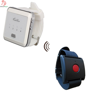 Portable Panic Button Light And Vibration Pager Personal Panic Alarm System
