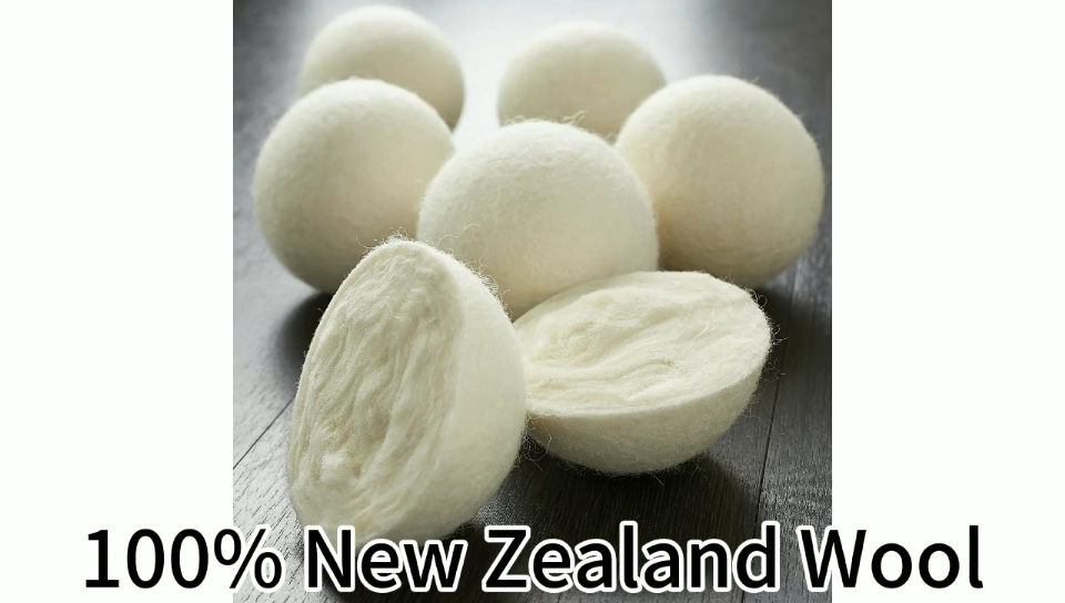 7cm Eco friendly 100% New Zealand wool dryer balls