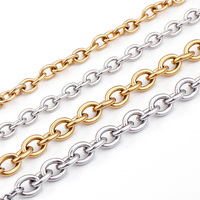 1.6mm-3mm stainless steel chain necklace cable chain necklace