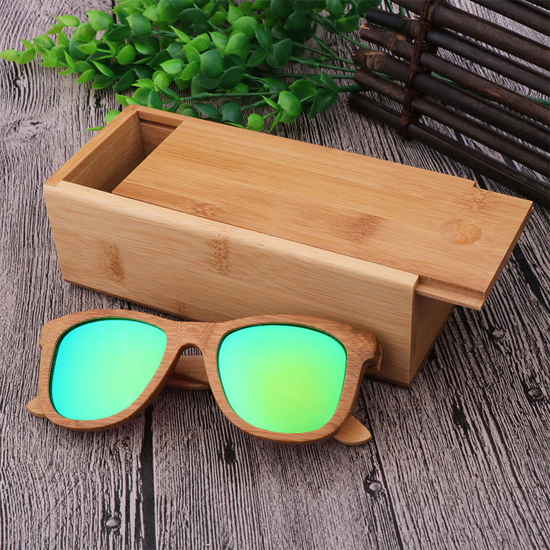 Ecofriendly and Degradable material custom logo wood bamboo sunglasses glasses case