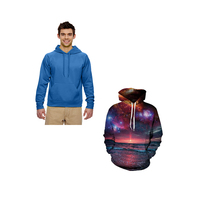 High Quality Sublimation Sweatshirt Mens Sport Oversized Hoodie