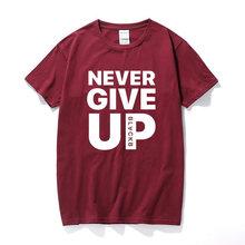 Футболка с надписью «Never gift Up», футболки для фанатов и футбольных мячей, хлопковые уличные повседневные топы высокого качества PSwagium, 4-0(China)