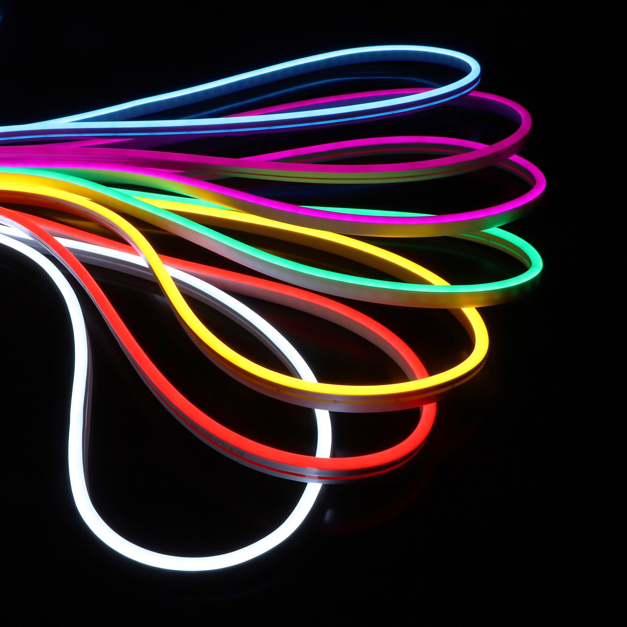 SOMPOM factory price  12v neon led light strip 6*12mm 5M/roll  led silicone strip for outdoor and indoor decoration