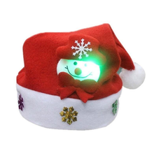 Hot Kids Adult Led <span class=keywords><strong>Kerstmuts</strong></span> Kerstman Rendier Sneeuwpop Xmas Geschenken Cap Bonnet De Noel Adulte Kerstman Hoed