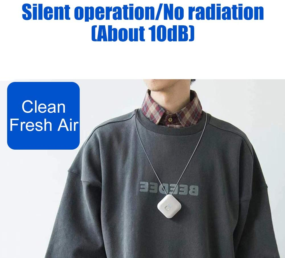 custom personal wearable chargeable mini ionization air tamer purifier necklace negative ionizer cute love bear usb 2020 model