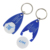 Wholesale Cheap Custom Supermarket Blue Plastic Blank Universal Trolley Token Coin Holder Keychain