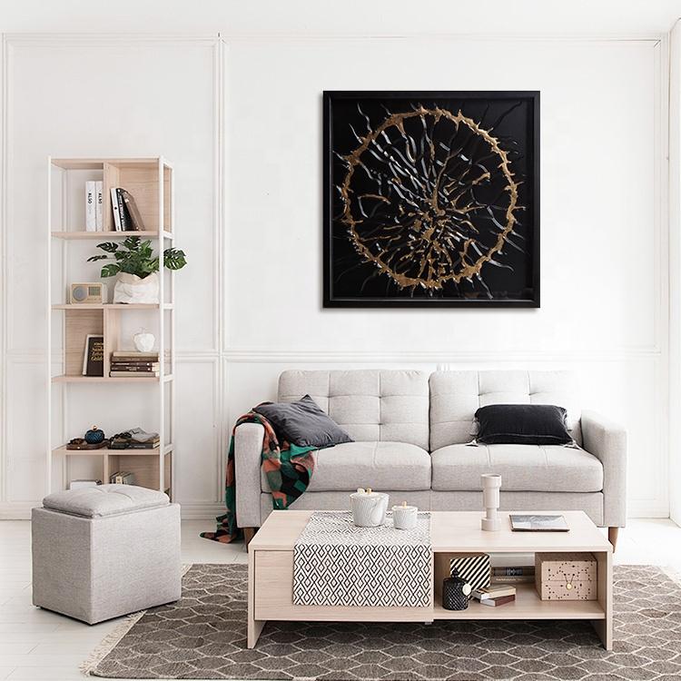 블랙과 골드 헤비 메탈 스타일 수제 그림자 상자 3D 월 아트 벽 장식