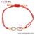 76998  Xuping charm Wholesale Price Number 8 Red Rope Braided Bracelet with Zircon