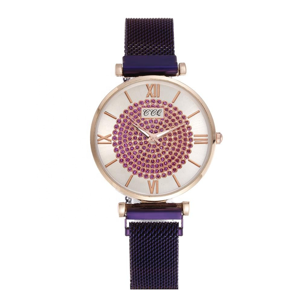 Hot Fashion Rome Diamond Dial Magnet <strong>Wrist</strong> <strong>Watch</strong> <strong>Women</strong> Bracelet <strong>Watches</strong> <strong>For</strong> Teenage relojes TW273