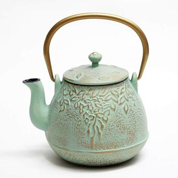 Antique Anese Cast Iron Teapot With