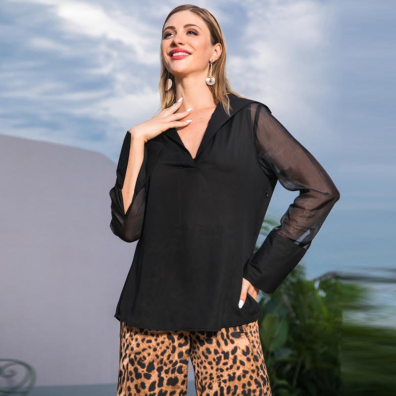lo último 90ae7 0304e blusas transparentes da moda de Atacado - Compre os melhores ...