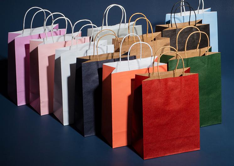 Einkaufen kraft braun handwerk papier tasche mit griff