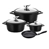 german cookware die casting aluminium induction bottom nonstick marble cookware set