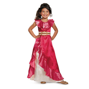 Carnival Clothing Elena of Avalor Princess Dress up Sash Belted Summer Frocks Gown Girls Party Cosplay Easter Costume for Kids