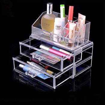 custom clear jewelry box acrylic drawer glass makeup organizer storage acrylic storage box