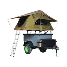Ecocampor 4 Persona Mini Pop Up atv Traino Dietro Camper Rimorchio Con Tende Pieghevoli