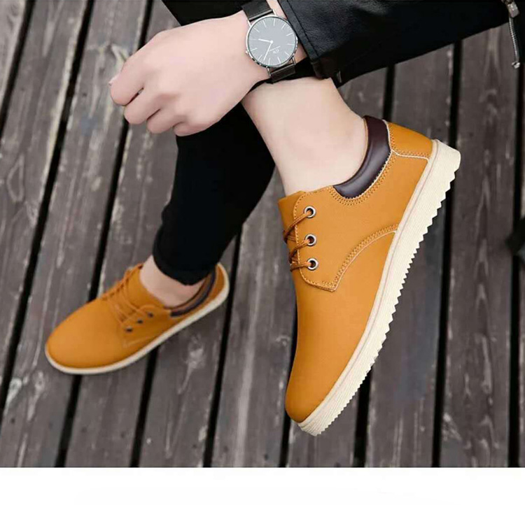 Factory custom mens winter desert pu casual rubber man leather shoes boots