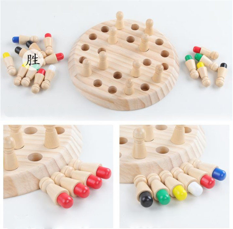Educational Wooden Toy Malti Function Memory Chess