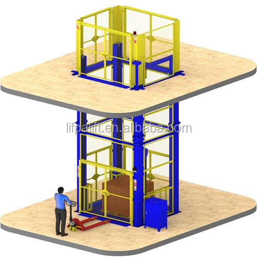 500 kg Elektrikli Küçük Ev kargo asansörü Hidrolik Küçük Asansör Asansörü