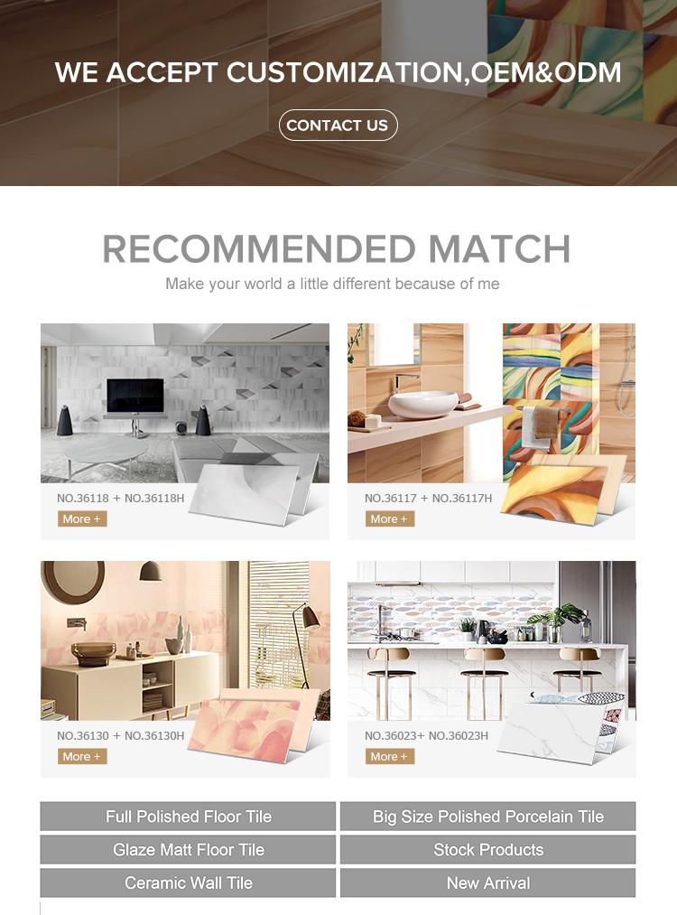 キッチンバスルーム用デジタルセラミック壁タイル300 600