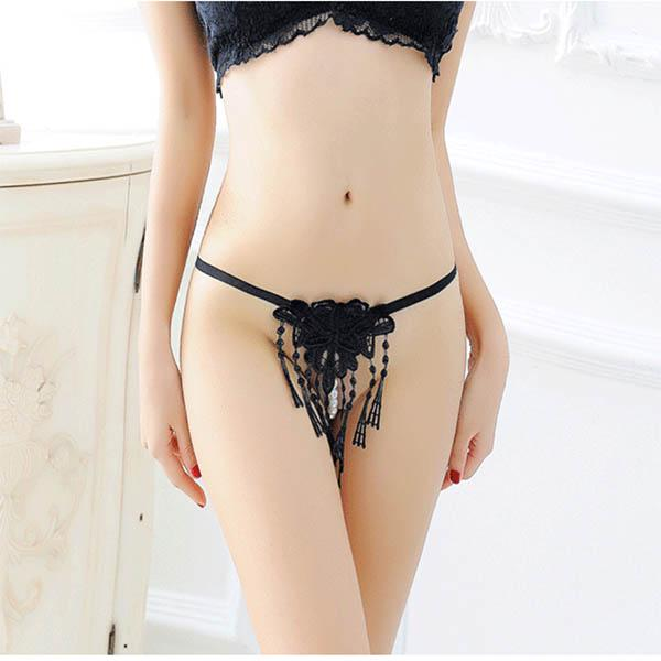 Sexy tentación ropa interior sexy correas de encaje perspectiva Tanga