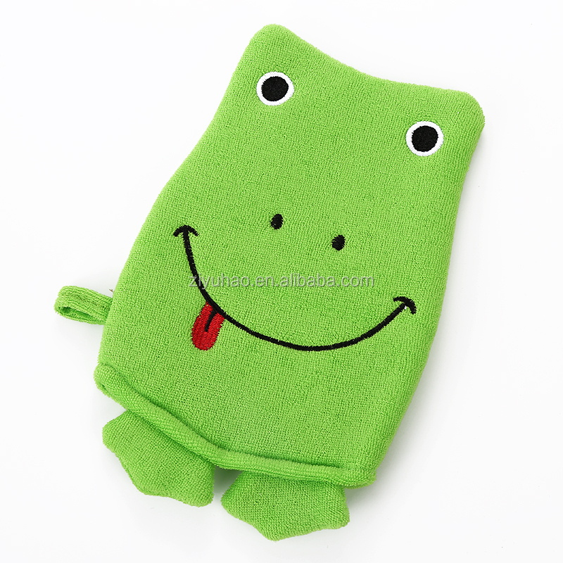 high quality toweling material body back scrub gloves bath wash gloves