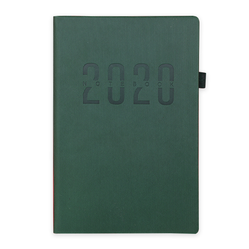 2021 a5 custom journal planner notebooks customizable hardcover printing logo leather cover self care stationary office supply
