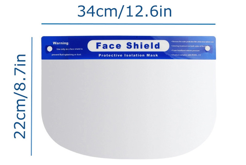 Transparent Isolation Sponge Full Face Shield with eye shield Hat Plastic Safety Protective anti dust visor Face Shield Mask