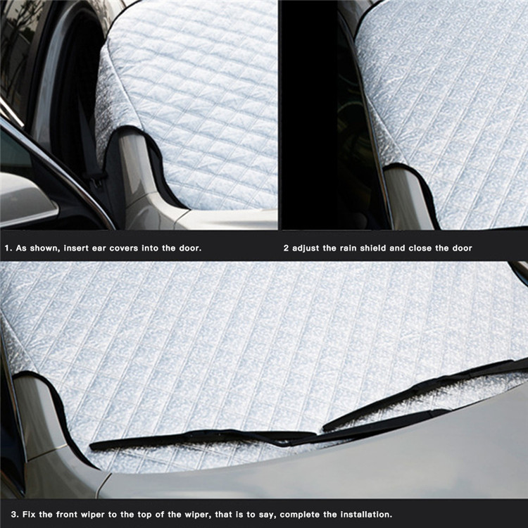 Professional custom car window windshield sun shade summer thickened sunscreen winter snow cover